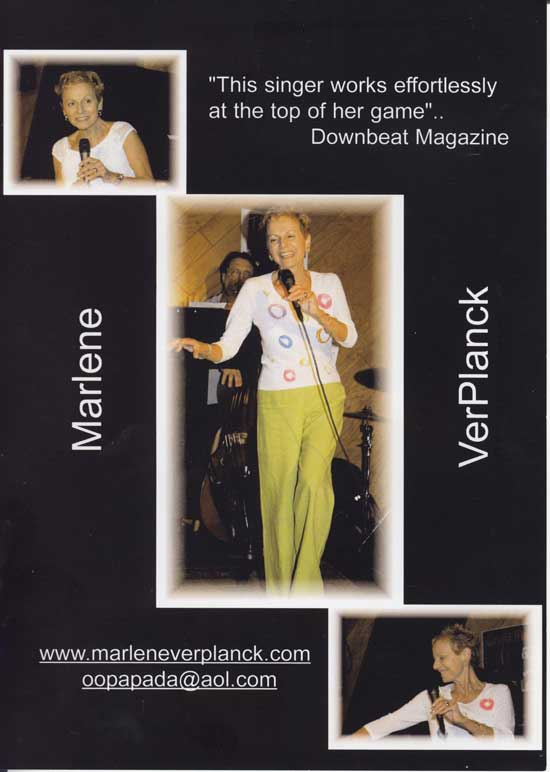 Flyer Marlene Verplanck